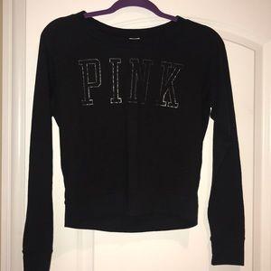 Victoria's Secret PINK Black Long Sleeve Top S
